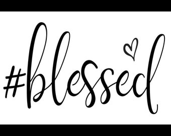 "Magnolia Design Co-Blessed-Reusable Adhesive Silkscreen Stencil 5""X7""-Chalk Art DIY"