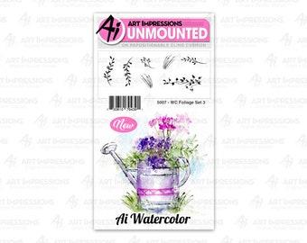 Art Impressions Unmounted Foliage Set Stamp Set 5007 - WC