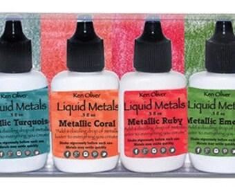 Ken Oliver - Color Burst 6 Pack Set - Liquid Metals - Shimmering Gems