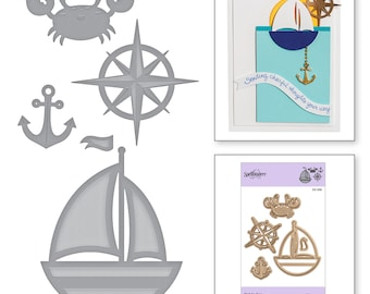 Spellbinders Die D-Lites Out to Sea Etched Dies - S3-336