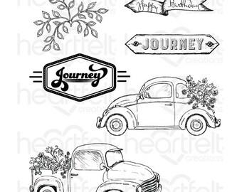 Heartfelt Creations Simply Classic Stamp Set HCPC-3801