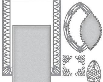 Spellbinders Nestabilities Renaissance Labels 52 Decorative Accent Etched Dies S6-054