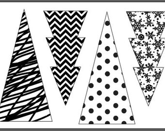 "Magnolia Design Co-Tree Patterns-Reusable Adhesive Silkscreen Stencil 12"" x 18""-Chalk Art DIY"