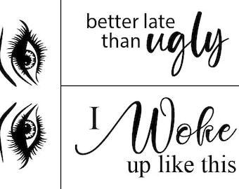 "Magnolia Design Co-Better Late-Reusable Adhesive Silkscreen Stencil 5""X7""-Chalk Art DIY"