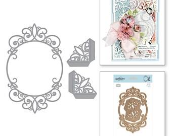 Spellbinders Shapeabilities Tiara Rondelle Etched Dies Elegant 3D Vignettes by Becca Feeken S5-342