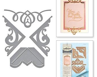 Spellbinders Graceful Corners One Card Creator Amazing Paper Grace by Becca Feeken Etched Dies S4-709