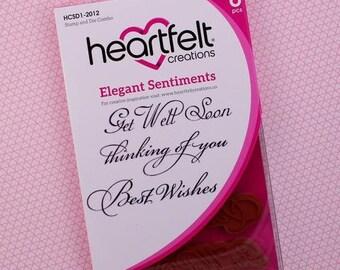 Heartfelt Creations Elegant Sentiments Stamp and Die Combo HCSD1-2012