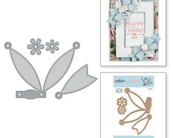 Spellbinders Shapeabilities Petite Double Bow and Flowers Etched Dies Elegant 3D Vignettes by Becca Feeken S3-314