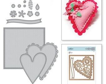 Spellbinders Dies - Sew Sweet - Tammy Tutterow - Sew Sweet Valentine - S6-145