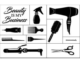 "Magnolia Design Co-Beauty is My Business-Reusable Adhesive Silkscreen Stencil 12"" x 18""-Chalk Art DIY"