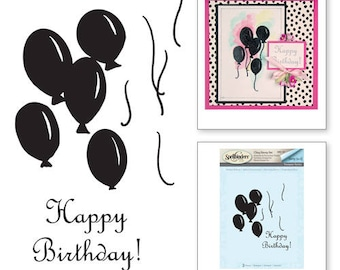 Spellbinders Birthday Balloons Stamp Set from the Joyous Celebrations Collection by Sharyn Sowell SBS-101