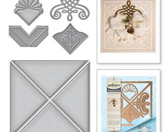 Spellbinders Graceful 6 x 6 Frame Maker Card Creator Amazing Paper Grace by Becca Feeken Etched Dies S6-112