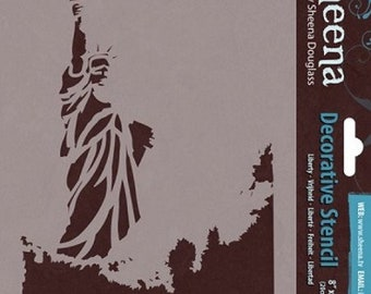 "Crafter's Companion Liberty Sheena Douglass Decorative Stencil, 8"" by 6"""
