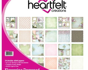 "Heartfelt Creations Flowering Dogwood Collection 12"" x 12"" HCDP1-260"