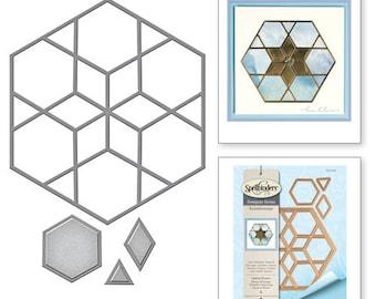 Spellbinders   Shapeabilities Optical Illusion Kaleidoscope by Lene Lok Etched Dies S4-696