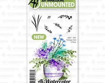 Art Impressions Unmounted Foliage Set 2 Stamp Set 4867 - WC