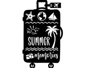 "Magnolia Design Co-Summer Memories-Reusable Adhesive Silkscreen Stencil 5""X7""-Chalk Art DIY"
