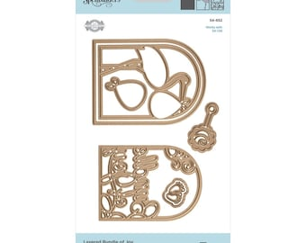 Spellbinders Shapeabilities Layered Bundle of Joy Etched Dies Elegant 3D Vignettes by Becca Feeken S4-852