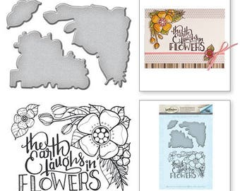 Spellbinders Earth Laughs Stamp and Die Set from the Spring Love Collection by Stephanie Low SDS-062