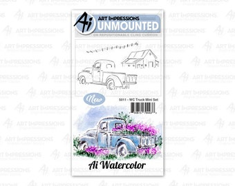 Art Impressions Unmounted Truck Mini Stamp Set 5011 - WC