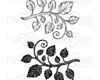 Heartfelt Creations Classic Leaf Cling Stamp Set HCPC-3546