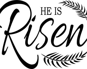 "Magnolia Design Co-He is Risen-Reusable Adhesive Silkscreen Stencil 8.5"" x 11""-Chalk Art DIY"