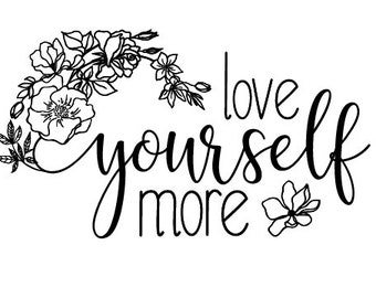 "Magnolia Design Co-Love Yourself-Reusable Adhesive Silkscreen Stencil 5""X7""-Chalk Art DIY"
