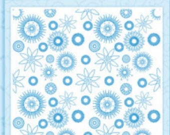 "Crafter's Companion Die'sire Embossalicious Flower Power 8"" x 8"" Embossing Folder EF8-FLOWER"