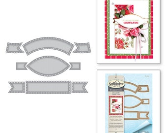 Spellbinders Shapeabilities Vintage Pierced Banners Etched Dies Chantilly Paper Lace Collection by Becca Feeken S4-820