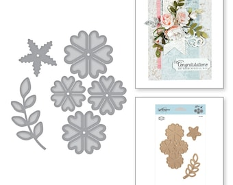Spellbinders Shapeabilities Cinch and GoFlowers lll Etched Dies Elegant 3D Vignettes Collection by Becca Feeken S4-867