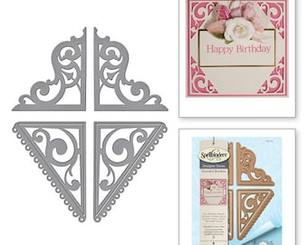 Spellbinders Graceful Corners Two Card Creator Amazing Paper Grace by Becca Feeken Etched Dies S4-747