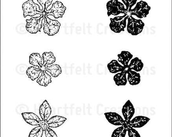 Heartfelt Creations Mini Vintage Floret Cling Stamp Set HCPC-3502