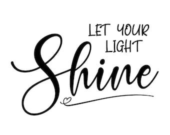 """Magnolia Design Co-Let Your Light Shine-Reusable Adhesive Silkscreen Stencil 5""""X7""""-Chalk Art DIY"""