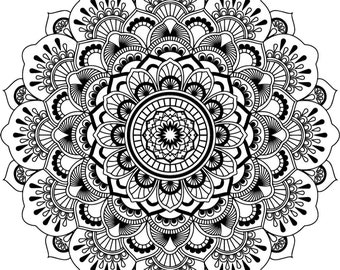 "Magnolia Design Co-Mandala Lace-Reusable Adhesive Silkscreen Stencil 15"" x 15""-Chalk Art DIY"