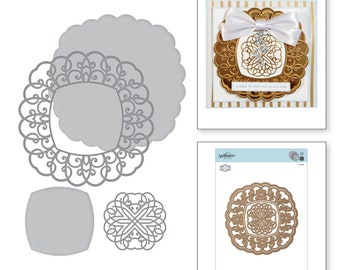 Spellbinders Shapeabilities Ringlet Round Etched Dies Romancing the Swirl Becca Feeken S5-369