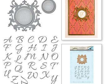 Spellbinders Royale Monogram Set Stamp and Die Set from the Rouge Royale Deux Collection by Stacey Caron SDS-036