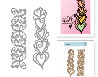 Spellbinders Shapeabilities Hearts and Butterflies Borders Etched Dies On the Wings of Love Collection By Joanne Fink S4-901