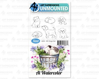 Art Impressions Unmounted Dogs Stamp Set 4959 - WC