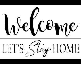 "Magnolia Design Co-Welcome-Reusable Adhesive Silkscreen Stencil 12"" x 18""-Chalk Art DIY"