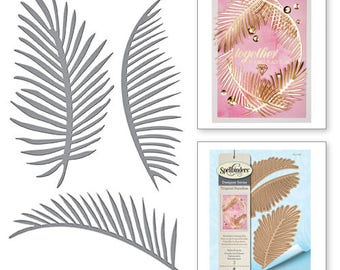 Spellbinders Shapeabilities Palm Fronds Etched Dies Tropical Paradise by Lene Lok S4-726