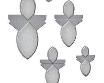 Spellbinders Shapeabilities Amazing Paper Grace Vintage Elegance Becca Feeken Round Flower Fold n Go Etched Dies S3-251