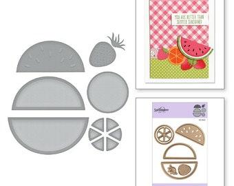 Spellbinders Die D-Lites Fruit Salad Etched Dies - S3-343