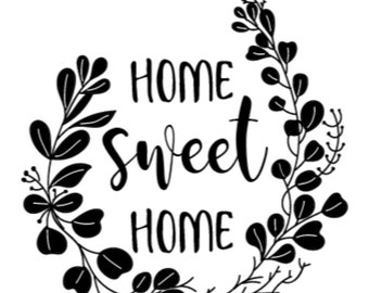 "Magnolia Design Co-Home Sweet Home-Reusable Adhesive Silkscreen Stencil 5""X7""-Chalk Art DIY"