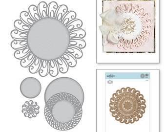 Spellbinders Shapeabilities Graceful Doily Etched Dies Romancing the Swirl Becca Feeken S5-368