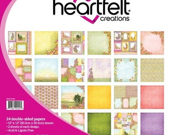 Heartfelt Creations Backyard Blossoms Paper Collection HCDP1-290