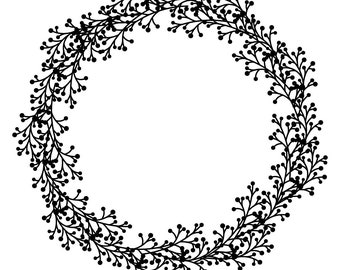"Magnolia Design Co-Wreath-Reusable Adhesive Silkscreen Stencil 15"" x 15""-Chalk Art DIY"