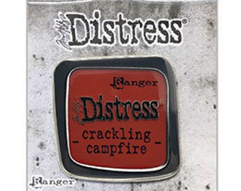 Tim Holtz Ranger Distress Enamel Collector Pin, Crackling Campfire (2020 New Colors!)