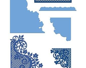 Heartfelt Creations Fleur Borders and Pockets HCD1-778