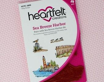 Heartfelt Creations Sea Breeze Harbor Cling Stamp Set HCPC-3890