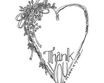 Spellbinders Stamps Tammy Tutterow Designs Thank You SBS-041